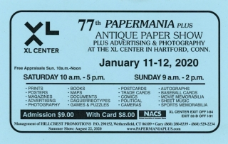 PAPERMANIA PLUS ANTIQUE PAPER SHOW