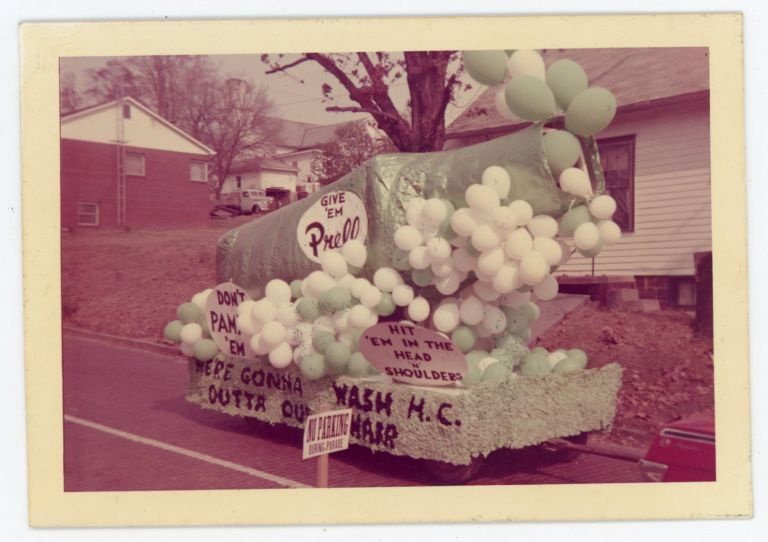 PRELL SHAMPOO PARADE FLOAT VINTAGE COLOR SNAPSHOT PHOTO