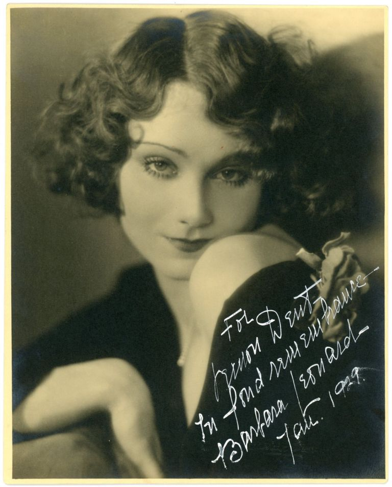 ACTRESS BARBARA LEONARD SIGNED PHOTO 1929