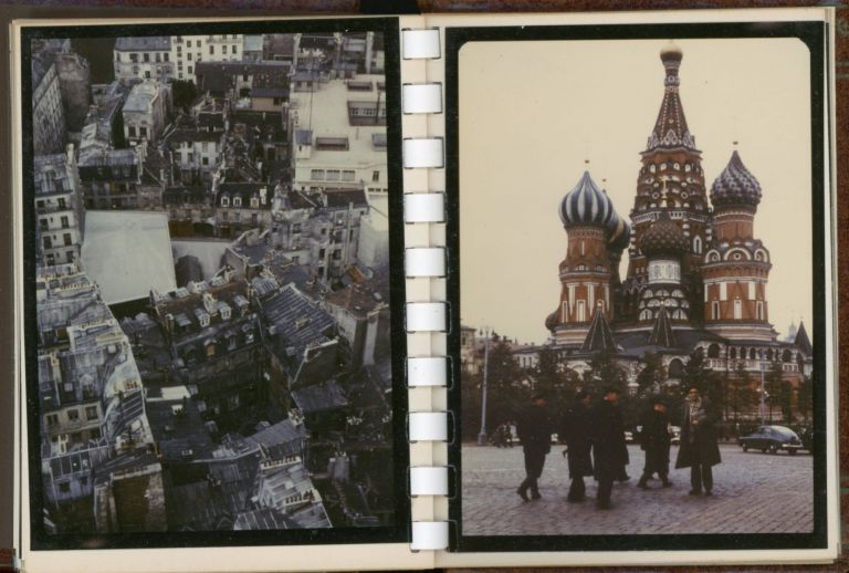 1950s RUSSIA USSR PHOTO ALBUM KODACHROME COLOR SNAPSHOTS