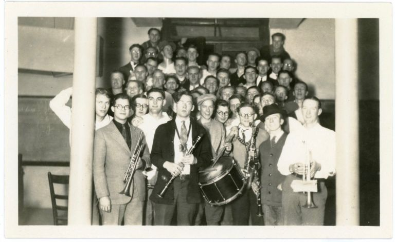 GROUP OF GUY IN THE BAND VINTAGE SNAPSHOT PHOTO
