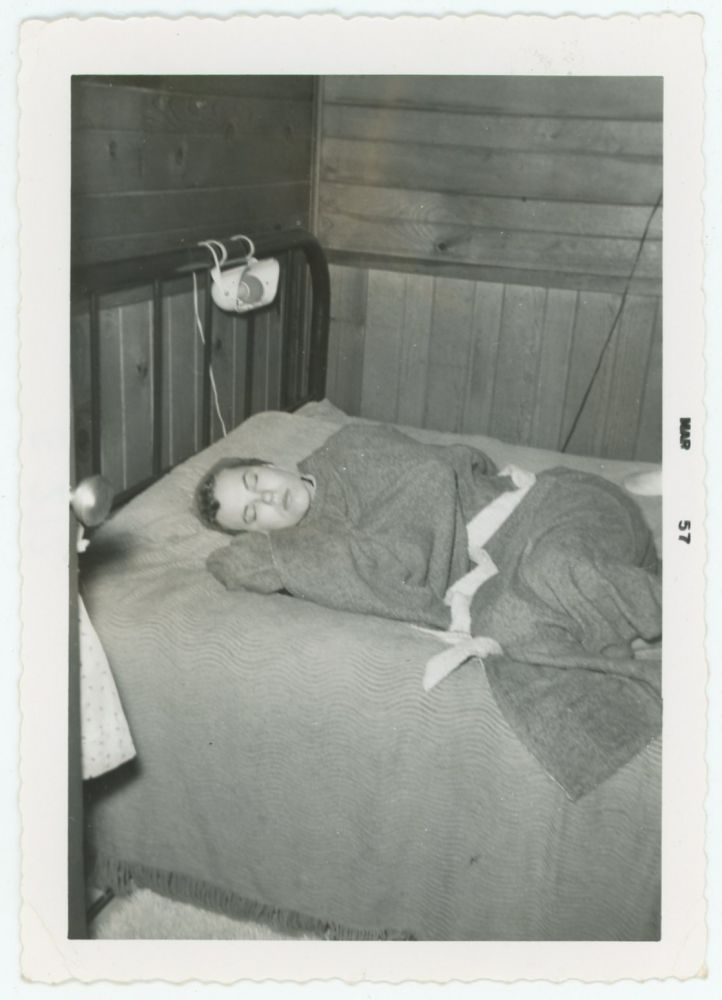 SLEEPING BEAUTY WRAPPED IN WOOL VINTAGE SNAPSHOT
