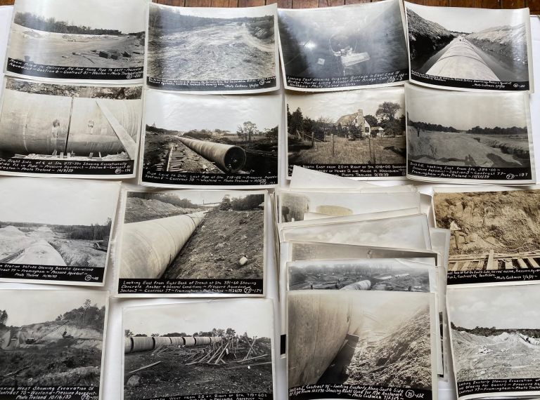 1939 MASSACHUSETTS WATER PROJECT - AQUEDUCT - TUNNEL - IDENTIFIED PHOTO GROUPING
