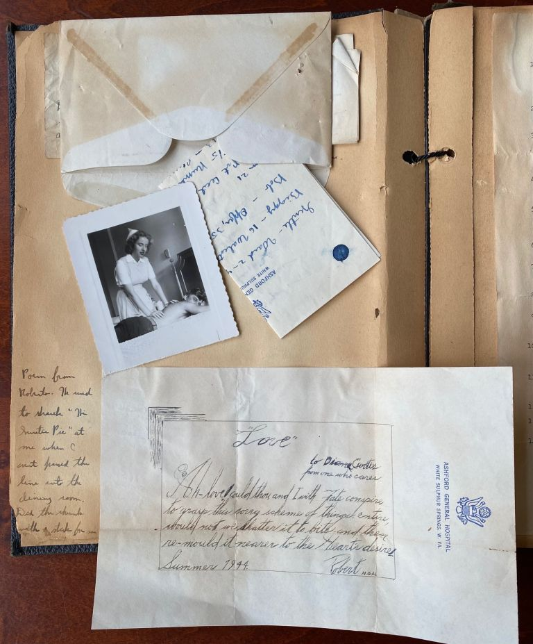 WWII ERA NURSE'S SCRAPBOOK OF LETTERS AND PHOTOS. Diane Curtis.