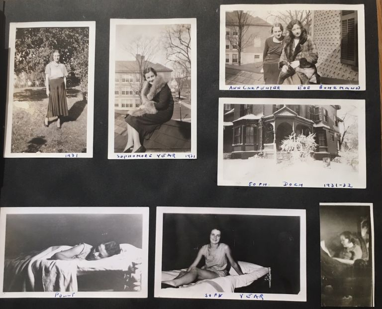 AFFECTIONATE WOMEN at SCHOOL SIMMONS COLLEGE EARLY 1930s PHOTO ALBUM
