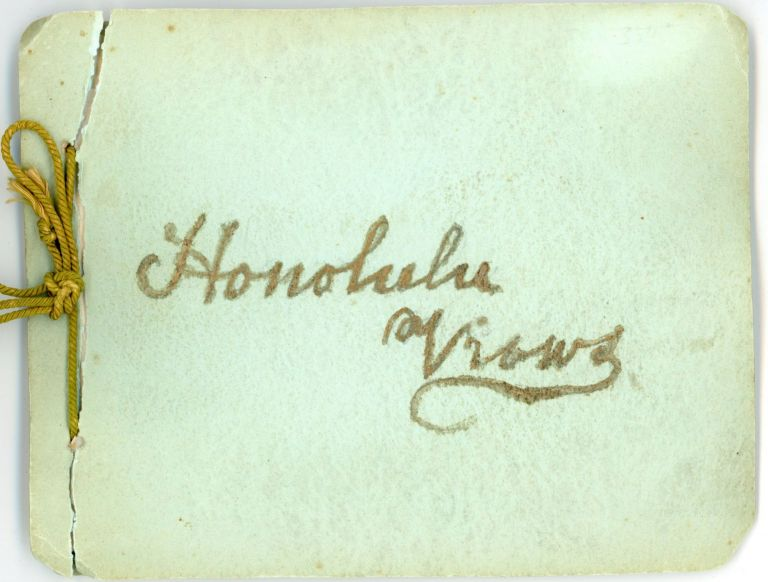 HONOLULU HAWAII HANDMADE c. 1900 PHOTO ALBUM