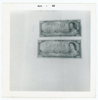 CANADIAN MONEY CURRENCY ODD VINTAGE SNAPSHOT PHOTO