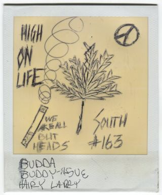 HIGH ON LIFE ALTERED VINTAGE POLAROID PHOTO