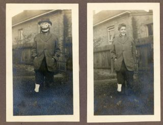 BOY in BUM COSTUME with and without MASK SNAPSHOT PHOTO LOT