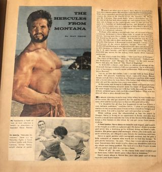 GAY ICON STEVE REEVES SCRAPBOOK