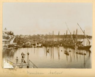 AFRICA - ZANZIBAR MOMBASA ETC EARLY 1900s PHOTO ALBUM