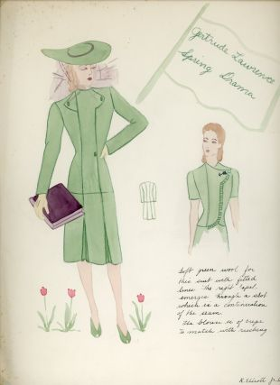 FASHION SKETCHES PORTFOLIO 1930 1940s