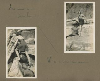 GIRLS TRIP - FUN WITH BOYS ON THE BEACH, EXMOUTH, ENGLAND, 1937 PHOTO ALBUM