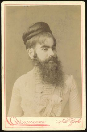 BEARDED LADY ANNIE JONES CABINET CARD PHOTO by CHARLES EISENMANN