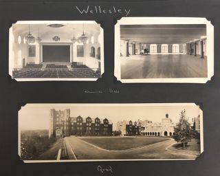WELLESLEY COLLEGE 1920s WOMEN PHOTO ALBUM