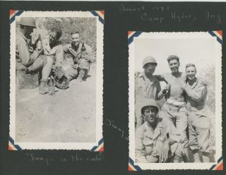 WWII RECORD OF FRIENDS IN THE WAR BY A GIRL AT HOME - PHOTO ALBUM