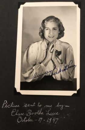 PHOTO ALBUM DEDICATED TO 1st US WOMAN AMBASSADOR CLARE BOOTHE LUCE, 1947-50