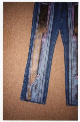 FASHION: PAINTED JACKETS AND JEANS - DECORATED CLOTHING c. 2000 SNAPSHOT PHOTO LOT