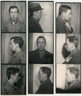 MAN COMPULSIVELY TAKES PHOTOBOOTH PHOTOS OF SELF IN 1962-1964 - FOLK ART PHOTO COLLECTION WITH DIARY ENTRIES
