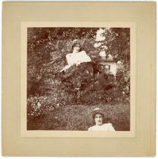 VINTAGE DOUBLE EXPOSURE PHOTO OF FLOATING MOTHER C. 1900