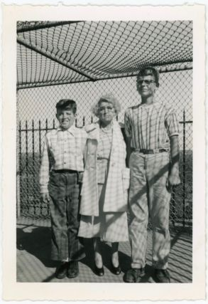 WIRE FENCING SHADOWS VINTAGE SNAPSHOT PHOTO