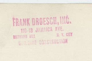 FRANK A. DROESCH, INC. CONSTRUCTION FIRM PHOTO ARCHIVE – BUILDING QUEENS AND LONG ISLAND, NEW YORK, 1920's-50's