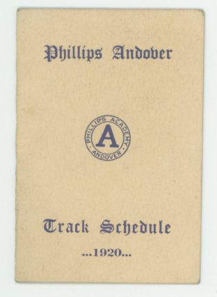 PHILLIPS ANDOVER vs PHILLIPS EXETER SPORTING LOT PHOTOS - PROGRAMS, etc 1911-1920
