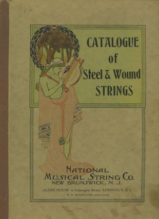 MUSICAL STRING CATALOG AND ORIGINAL PHOTOS WITH WOMEN WORKERS EARLY 1900s LOT