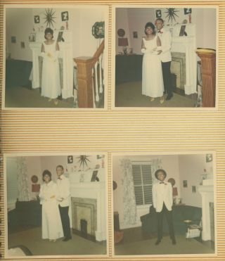 BLACK FAMILY PHOTO ALBUM C. 1970 PROM FUN AND MILITARY