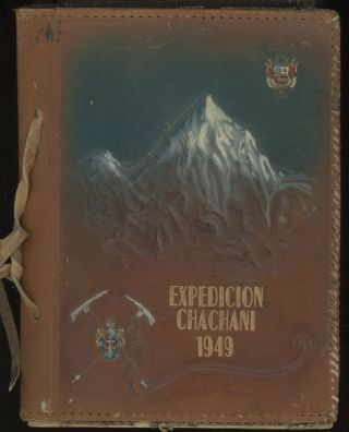 1949 CHACHANI MOUNTAIN CLIMBING EXPEDITION PERU PHOTO ALBUM