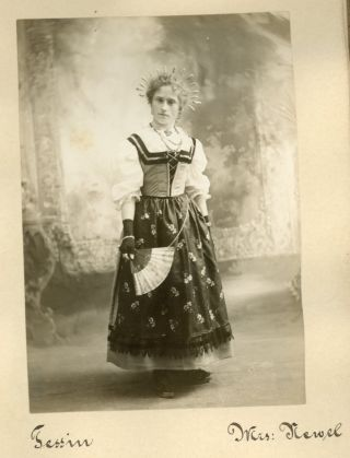 SWISS COSTUMES and UNCLE SAM c. EARLY 1900s PHOTO ALBUM