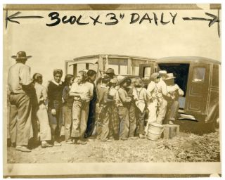 CHILD FARM LABOR CALIFORNIA PRESS PHOTO 1942 #2