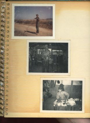 AFRICAN AMERICAN DATES AND GOES TO VIETNAM 1960s PHOTO ALBUM