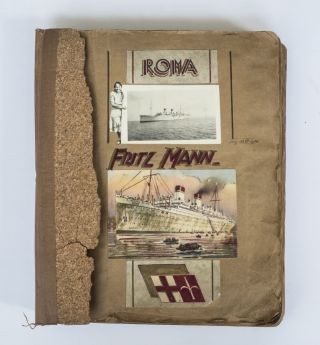 1938 CREATIVE MEDITERRANEAN CRUISE PHOTO ALBUM AND SCRAPBOOK SHOWS LOCAL LIFE