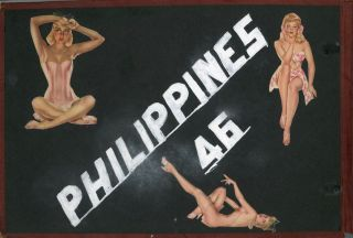 POST WWII MAN in the SERVICE - PHILIPPINES PHOTO ALBUM
