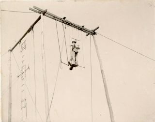 EARLY 1900s HIGH WIRE CIRCUS ACT PERFORMERS PHOTOS