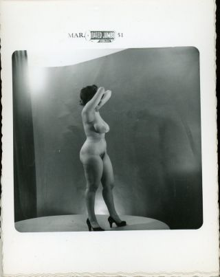 NUDE WOMAN HIDING FACE 1951 - BETTY PAIGE PHOTOGRAPHER