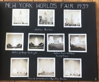 1939 NY WORLD'S FAIR, EDGEMERE, JERSEY SHORE PHOTO ALBUM
