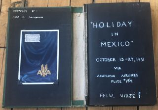 TRIP TO MEXICO in 1951 PHOTO ALBUM SCRAPBOOK