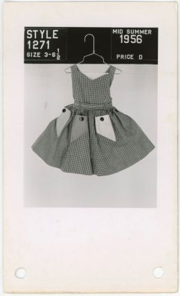 FASHIONS FOR YOUNG GIRLS 1956 PHOTOGRAPHIC CATALOG