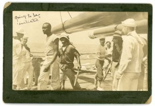 SAILORS CROSSING THE EQUATOR NEPTUNE CEREMONY 1908 VINTAGE PHOTO LOT