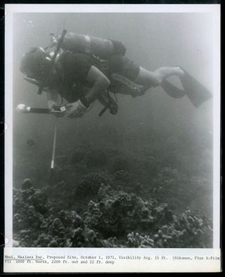 1971 HAWAII PHOTO ALBUM UNDER WATER DIVING EXPLORATION FOR PROPOSED PLANT SITE