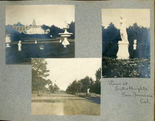 1901 PHOTO ALBUM CALIFORNIA and TRAVEL by FUTURE CHRISTIAN MISSIONARY