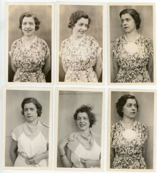 12 PHOTOS of MARIE by CHESTER OF MET LIFE NYC 1936