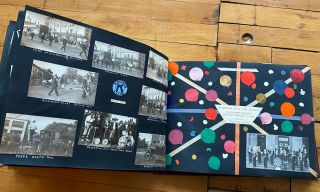 1920s INDIANA and MIDWEST TOURISM, KIWANIS CLUB, SCRAPBOOK and PHOTO ALBUM