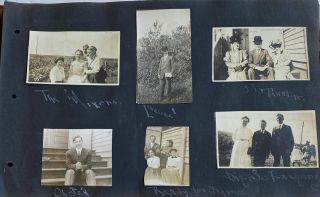 EARLY 1900s PHOTO ALBUM WEST BARNSTABLE MA SCHOOL