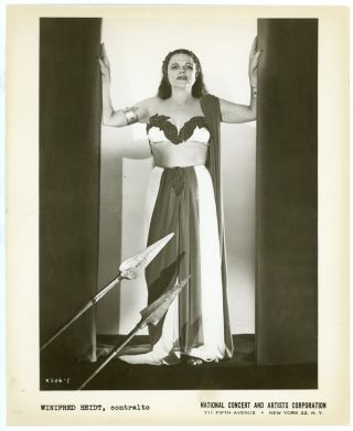 ACTRESS SINGER WINIFRED HEIDT SIGNED PHOTOS and more OPERA 1940s