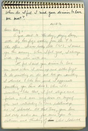 HANDWRITTEN LOVE LETTERS FROM MAN to WOMAN 1976