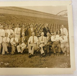 OLYMPIC PARK - MAPLEWOOD NJ AMUSEMENT PARKS CONVENTION PANORAMIC PHOTO 1931