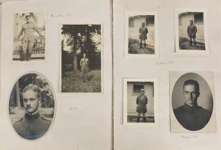 WWI and POST WAR US OCCUPATION OF GERMANY - FAMILY IN KOBLENZ GERMANY PHOTO ALBUM LOT